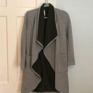 XS Fabletics fleece open cardigan tunic